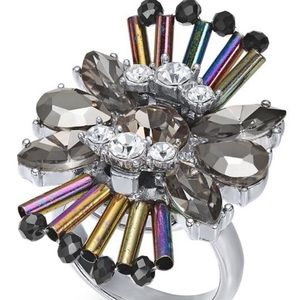 Crystal Statement Ring-NWT-Size: 7